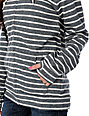 Obey OG Charcoal & White Stripe Zip Up Hoodie