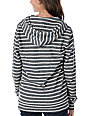Obey OG Charcoal & White Stripe Zip Up Hoodie
