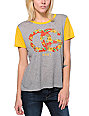 Obey OG Island Grey & Yellow Yesterday T-Shirt
