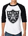 Obey Obey Nation 2 White & Black Baseball T-Shirt