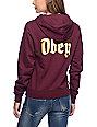 Obey Ole Burgundy Hoodie