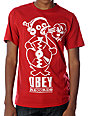Obey Penguin Red Glow In The Dark T-Shirt