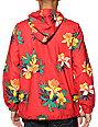 Obey Pipeline Red Floral Windbreaker Jacket