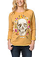 Obey Reincarnation Amber Gold Echo Crew Neck Sweatshirt