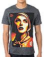 Obey Rise Above Rebel Mock Twist Heather Black T-Shirt