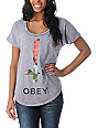 Obey Salem Spring Purple Mineral Wash Dolman T-Shirt