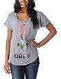 Obey Salem Spring Purple Mineral Wash Dolman T-Shirt