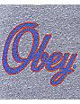 Obey Script Heather Grey Track Tank Top