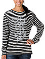 Obey Serpent Snake Striped Pullover Sweatshirt