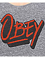 Obey Shaka Waves Heather Grey Track Tank Top