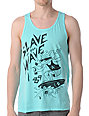 Obey Slave To The Wave Mint Green Tank Top