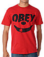 Obey Smile Red T-Shirt