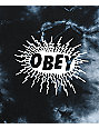 Obey Spazz Salvage Dusty Black Tie Dye Long Sleeve T-Shirt