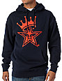 Obey Star Crown Navy Pullover Hoodie