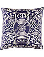 Obey Stereophonic Navy Blue Throw Pillow