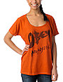 Obey Surf Punk Orange Raglan Dolman T-Shirt