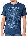 Obey Till The Bitter End Blue T-Shirt