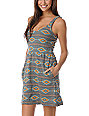 Obey Tribal Charcoal Grey Tank Dress
