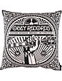 Obey Unbreakable Records Black Throw Pillow