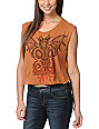 Obey Under World Tour Orange Voodoo Crop T-Shirt
