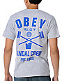 Obey Vandal Crew Heather Grey T-Shirt