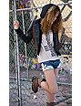 Obey Varsity Love Leopard & Black Hooded Faux Leather Jacket