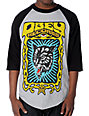 Obey Wolf Black & Grey Baseball T-Shirt