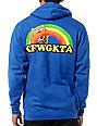 Odd Future Rainbow Cat Blue Pullover Hoodie