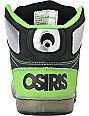 Osiris Kids NYC 83 Black, Gunmetal & Neon Lime Skate Shoes