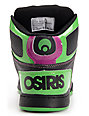 Osiris Kids NYC 83 Purple, Black & Lime Skate Shoes