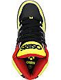 Osiris Kids NYC 83 Yellow, Black & Red Skate Shoes