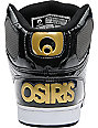 Osiris NYC 83 Black, Charcoal & Gold Shoes