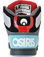 Osiris NYC 83 Black, Teal & Red Skate Shoes