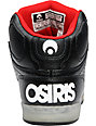 Osiris NYC 83 Glow-In-The-Dark Black, Red, & Blue Shoes