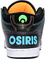 Osiris NYC 83 Mid Black, Orange, & Green Shoes