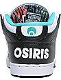 Osiris NYC 83 Mid Black, Teal & Craze Shoes