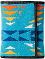 Pendleton Small Tri Fold Teal Wallet