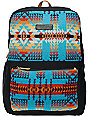 Pendleton Turquoise Pagosa Spring Print Backpack