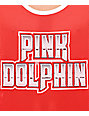 Pink Dolphin Chrome Script Red Mesh Tank Top