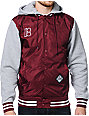 Plan B Scholar Burgundy Hooded Varsity Jacket