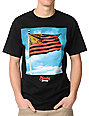 Popular Demand Wave Flag Black T-Shirt