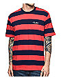 Primitive Classic Knit Red & Navy Striped T-Shirt