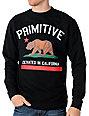 Primitive Cultivated Black Fleece Crew Neck Sweatshirt