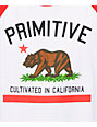 Primitive Cultivated White & Red Raglan Baseball T-Shirt