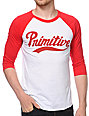 Primitive Dugout Red and White Baseball T-Shirt