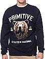 Primitive Golden Bear Navy Blue Crew Neck Sweatshirt