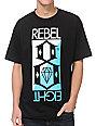 REBEL8 Flip Black T-Shirt