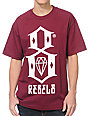 REBEL8 Logo Burgundy T-Shirt