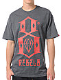 REBEL8 Logo Charcoal T-Shirt