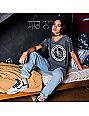 REBEL8 Skate Core Burnout Grey T-Shirt